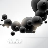 abstract black 3d molecules background