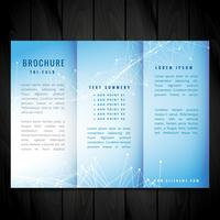 blue trifold vector brochure design