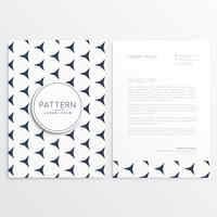 business flyer with pattern shape
