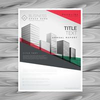 red geometric business flyer poster design template