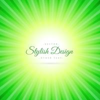 green sunburst background