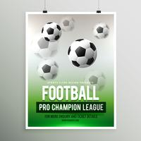 modèle de flyer de ligue de championnat professionnel de football