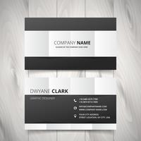 conception de vecteur de carte de visite propre noir et blanc