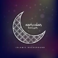 croissant de lune avec motif abstrait