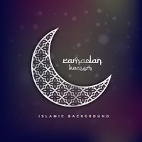 crescent moon shape with abstract pattern