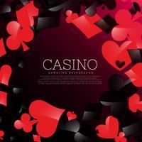 Fondo de casino con naipes simbolos