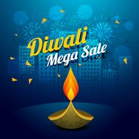 diwali mega sale vector design illustration