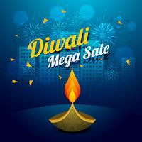 diwali mega sale vector design illustration