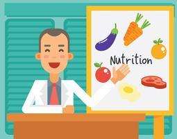 Vrolijke voedingsdeskundige illustratie