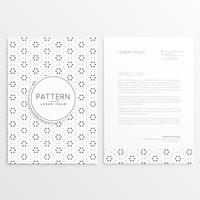 business letterhead design with abstract pattern