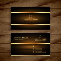 premium luxury business card design template vector design illus