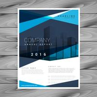 blue annual report business leaflet flyer brochure template desi