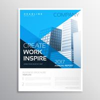 annual report business brochure in blue color