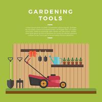 Vettore degli strumenti di giardinaggio