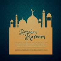 festival islamico ramadan cartão