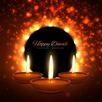 vector colroful diwali season greeting card design