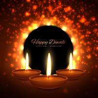 vector colroful diwali season greeting card design