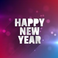 Frohes neues Jahr glühende Karte