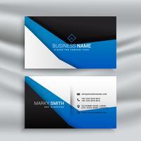 enkelt blått och svart visitkortdesign