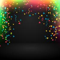 Fondo abstracto de celebración con confeti