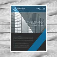 modelo de negócio de folheto de empresa moderna