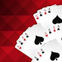 fundo vermelho com cartas de baralho