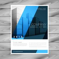 stilig blått broschyr flygblad design mall för din verksamhet