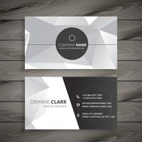 carte de visite abstraite en gris. Business vector design illustrat