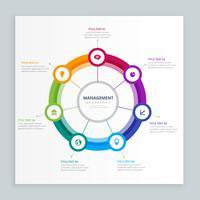 plantilla de gestión empresarial de infografía