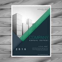 stylish modern minimal business brochure flyer design in size A4