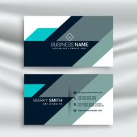 creative modern shapes blue business card template
