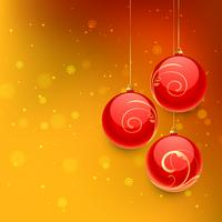 christmas ball in orange background