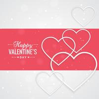 valentin dag hälsning med hjärtan vektor design illustration