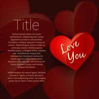 love you background card vector design illustration