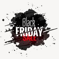 Schwarzer Freitag-Verkauf Grunge-Stil-Label-Design