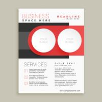 modern business flyer and brochure design in red and white color