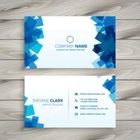 abstract blue shapes business card template vector design illust