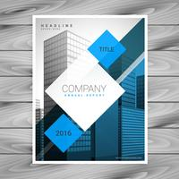 moderne blauwe zakelijke brochure folder sjabloon