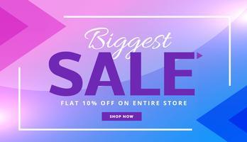 Elegante púrpura publicidad venta banner vale vector diseño