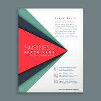 stylish brochure design with geometric shape