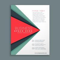 diseño de folleto con estilo con forma geométrica