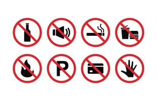 Forbidden Sign Vector Set