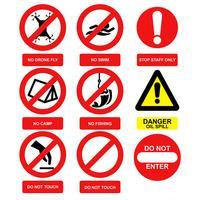 Vecteur de signe d'avertissement
