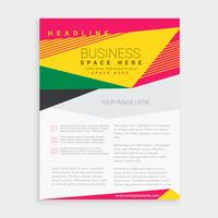 abstract colorful geometric business brochure flyer design templ