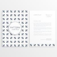 Företag brevpapper design med rent mönster