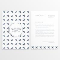 company letterhead design with clean pattern