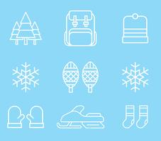 Winter activiteiten pictogrammen vector