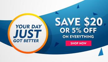 sale discount banner, poster or flyer template