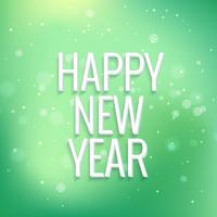 happy new year in colorful bokeh background