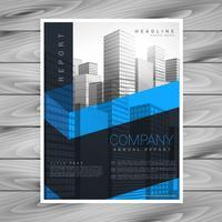 disegno vettoriale astratto business brochure scuro con spazio per voi